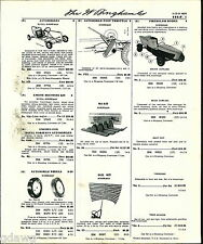 1960 ADVERT Royal Norseman Pedal Car Go Cart Fiberglass Body Ski Kit Racer