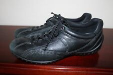 Ecco black leather women's shoes, 37 or 6.5-7, Medium (B , M), lace up