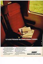 PUBLICITE ADVERTISING  054  1977  SNCF   les voyage enrichissent l'esprit