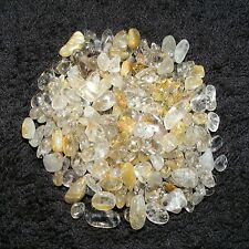 200 x Rutilated Quartz Mini Tumblestones 4mm-9mm Crystal Gemstone Wholesale