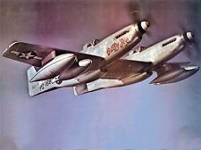 MILITARY AIR PLANE FIGHTER JET MUSTANG TWIN F82B BETTY JO POSTER PRINT BB1084A