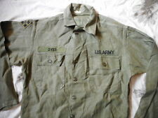 GENUINE ORIGINAL US ARMY M51 M 51 UTILITY SHIRT OG-107 EARLY VIETNAM WAR bdu M
