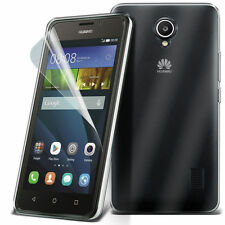 Ultra Thin Clear TPU Gel Skin Case Cover & LCD Film For Huawei Ascend Y635