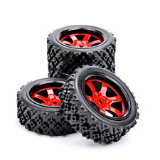 4Pcs Rubber Tires Wheel Rim D6NKR For HSP HPI RC 1:10 Off Road Racing Car