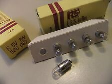 Bulb HALOGEN E14 6.5v 1W x 5 BOX  made by RS L.E.S. bulbs 586087 ... 36  nw