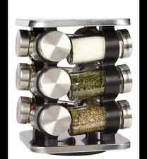 Orii 12 Jar Stainless Steel Revolving Spice Rack - kitchen utensils paypal
