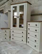 HANDMADE AYLESBURY NEXT (IVORY+DARK OAK) 3 PIECE BEDROOM SET NOT FLAT-PACK!!!