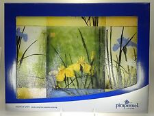 Portmeirion Iris Squares Tempered Glass Worktop Saver Cutting Board New in Box