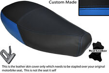 LIGHT BLUE & BLACK CUSTOM FITS PIAGGIO VESPA ET2 ET4 125 DUAL LEATHER SEAT COVER