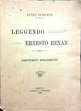 LEGGENDO ERNESTO RENANA DI LUIGI SCREMIN