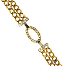 14kt Yellow Gold Double Curb Link Chain Bracelet .60 cts