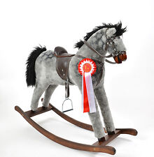 Large Beautiful Handmade Rocking Horse DAPPLE GREY with Rosette from ALANEL
