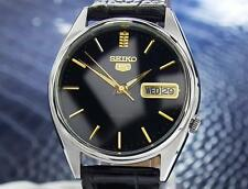 Seiko 5 ref 7009-3060 Rare Day Date Mens Vintage Automatic Watch Circa 1970 Jr51