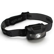 Super Bright 3W Mini Hiking Camping Outdoor LED Headlight Lamp Head Torch Black