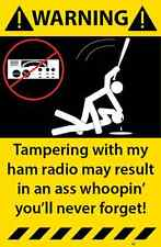 Ham Radio Warning Sticker Funny Decal CB Radio Hobby Communication 96