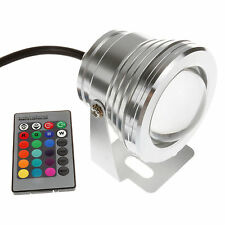 10W RGB LED Underwater Flood Light  Waterproof Spot Outdoor Lamp Bombillas & IR