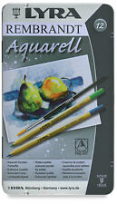 12 x LYRA REMBRANT AQUARELL ARTIST WATER-SOLUBLE  COLOURING PENCILS GIFT TIN