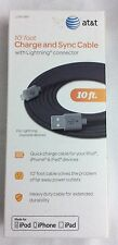 AT&T Charge And Sync Cable Lightning Connector For Ipod Ipad Iphone GRAY NEW