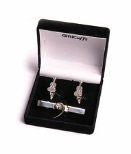 Double Bass Cufflinks with bass clef tie clip in Gift Box Bass Player Gift Idea
