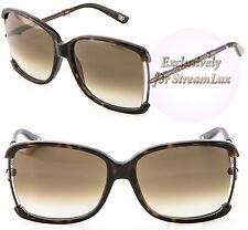 BOTTEGA VENETA Dark Havana Brown Sunglasses BV 132/S 3P1CC 125