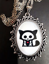 Skelanimals FOXY Antique Silver Pendant Necklace Goth Steampunk FOX