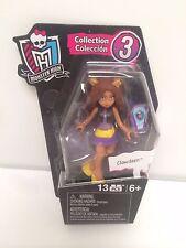 """2016 Mega Bloks Series 3 Monster High 3"""" Clawdeen Figure"""
