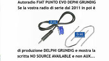 "Kit câble Aux MP3 iPod Punto EVO 150 ""SANS SOURCE DISPONIBLE"" Delphi Grundig"