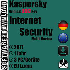 Kaspersky Internet Security Multi Device 2017 3 PC / Geräte 1 Jahr EU