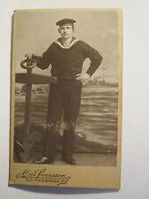 Karlskrona - 1911 - Matrose in Uniform - HMS Thule - Portrait / CDV Schweden