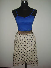 white polka skirt royal blue corset top two piece korean dress