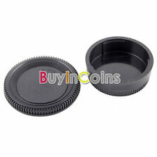 Rear Lens Cover + Body Cap Holder for Nikon DSLR SLR Camera Black