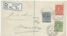 FALKLAND IS 1929  REG COVER TO PORT STANLEY (ADDRESSEES NAME EXCISED) FOX BAY C