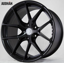 19X8.5/9.5 AodHan LS07 Rims 5X120 +35 Black Wheels BMW E90 E92 F10 F33 335i 330i