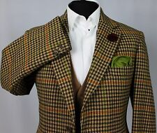 Tweed Blazer Jacket Bladen Supasax Windowpane Country 40R EXCEPTIONAL ITEM 343
