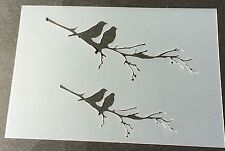 Birds on branch Mylar Reusable Stencil Airbrush Painting Art DIY Home