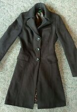 United Colors Of Benetton Womens Brown Wool Coat 38 (US 4)