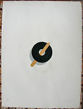 Agustin Fernandez Abstract Ring Collage Serigraph Print Cuba Art Puerto Rico