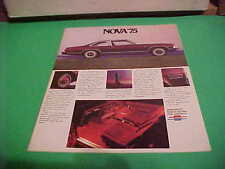 1975 CHEVROLET NOVA AUTO DEALER BROCHURE