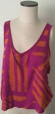 Decree Woman's Crop Top Pink Cut Out Back Size Large L KSO