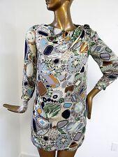 Missoni Italy Vintage 100% Silk Mod Print Dress sz 40 US 4