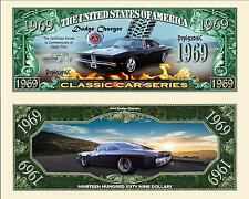 DODGE CHARGER -  BILLET MILLION DOLLARS US ! Collection Voiture Muscle Car 1969