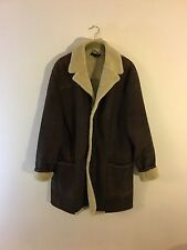Theory Brown 3/4 length shearling Sherpa jacket MSRP $1995