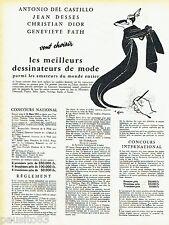 PUBLICITE ADVERTISING 076  1957   la haute couture par René Gruau Dior Fath