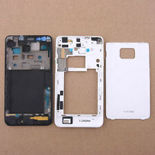 Original Full Housing Case Cover For Samsung Galaxy S 2 II i9100 + Button White