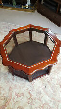 RARE VINTAGE RETRO OCTAGONAL GLASS TOP SIDE /COFFEE TABLE COLLECTION ONLY