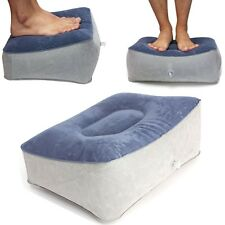 Soft Foot Feet Rest Inflatable Pillow Travel Helps Reduce DVT Risk on Flights