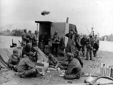 8x6 Gloss Photo ww863 Normandy D-Day Omaha Beach Mulberry Seabees