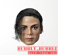 1/6 Michael Jackson Head Sculpt Rooted Hair For Hot Toys Phicen USA PRE-ORDER
