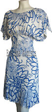 KAREN MILLEN WHITE & BLUE FLORAL PRINT VERY RARE DRESS SZ 10 BNWT