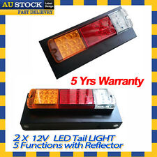 12V 24V LED Tray Back Cab 4 way Stop Tail Light for Toyota Landcruiser Hilux UTE
